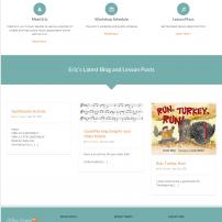 orffingaround.com website by Lisa Acciai of LAcDesign