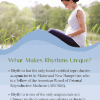 Lisa Acciai - Rack card for Rhythms Center for Women's Health
